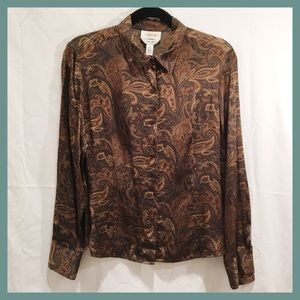 Vintage Silk Paisley Shirt